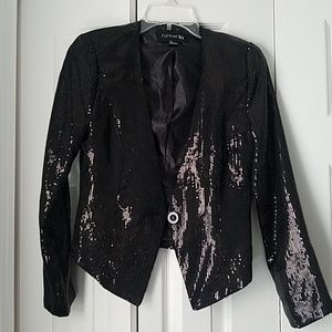 Forever 21 Black Sequin Blazer